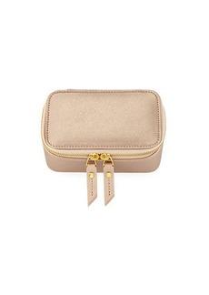 Neiman Marcus Saffiano Small Jewelry Case