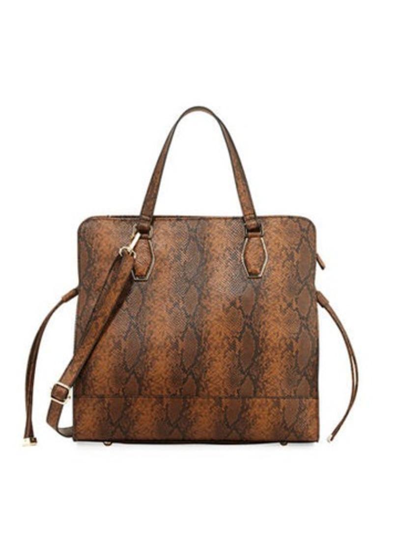 19ac92c1d Neiman Marcus Neiman Marcus Sally Python-Print Tote Bag Now $23.25