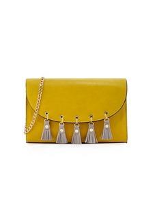 Neiman Marcus Salsa Tassel Crossbody Clutch Bag