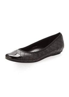 Neiman Marcus Saucy Quilted Ballerina Flat