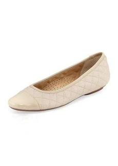 Neiman Marcus Saucy Quilted Ballerina Flats
