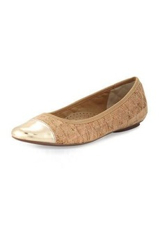 Neiman Marcus Saucy Quilted Cork Flat