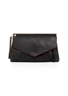 Neiman Marcus Sauvage Edgepaint Wristlet Clutch Bag