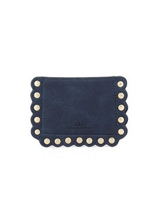 Neiman Marcus Scalloped Pebbled Card Case