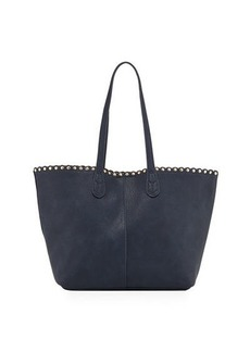 Neiman Marcus Scalloped Studded Tote Bag