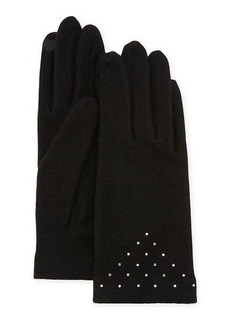 Neiman Marcus Scattered Crystal Smart Gloves