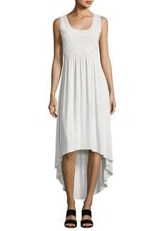 Neiman Marcus Scoop-Neck Strappy-Back Dress