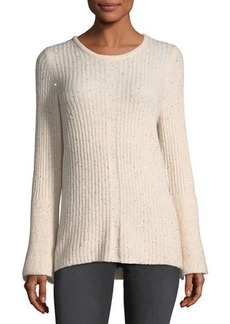 Neiman Marcus Sequined Bell-Sleeve Sweater