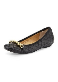 Neiman Marcus Shandra Quilted Ballet Flat