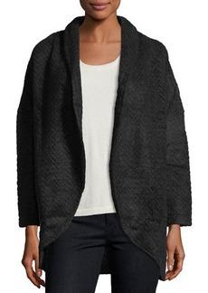 Neiman Marcus Shawl-Collar Cocoon Jacket