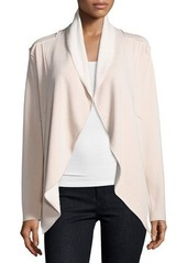 Neiman Marcus Shawl-Collar Open-Front Jacket