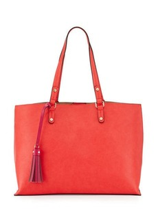 Neiman Marcus Shelby Pop Tassel Basic Tote Bag