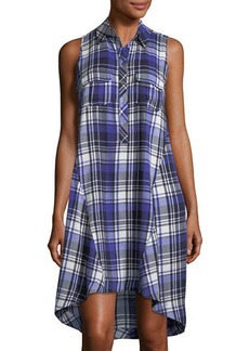 Neiman Marcus Plaid Boyfriend Shirtdress