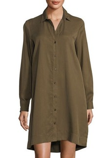 Neiman Marcus Shirtdress w/Lace-Up Back