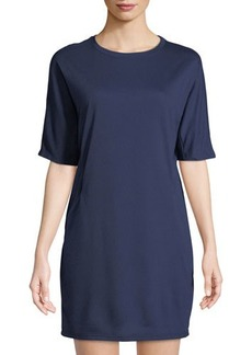 Neiman Marcus Short-Sleeve Cocoon Cozy Knit Dress