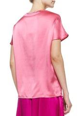 Neiman Marcus Short-Sleeve Cocoon Tee