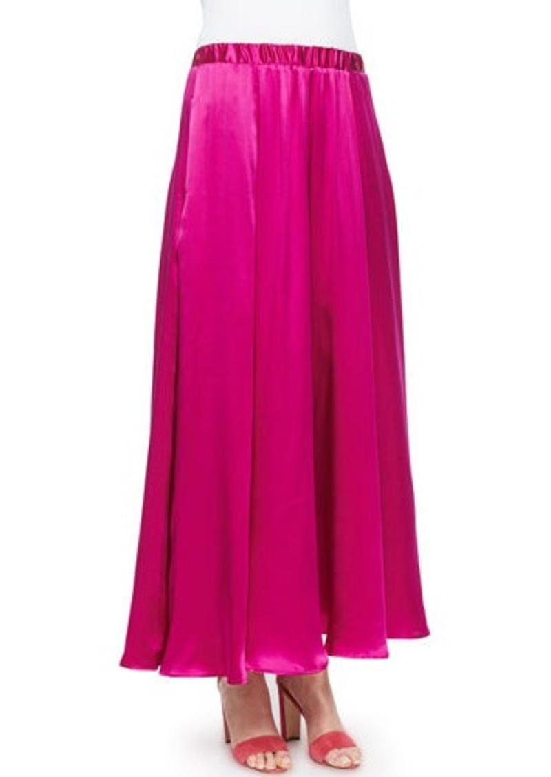 Neiman Marcus Silk Pull-On Maxi Skirt