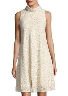Neiman Marcus Sleeveless A-Line Lace Dress