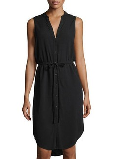 Neiman Marcus Sleeveless High-Low Shirtdress