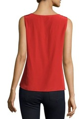 Neiman Marcus Sleeveless Silk Tank