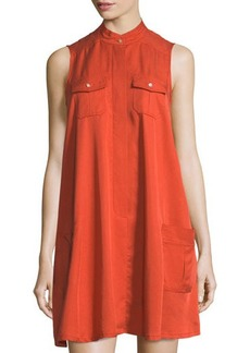 Neiman Marcus Sleeveless Swing Shirtdress