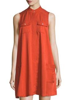 Neiman Marcus Sleeveless Swing Shirtdress