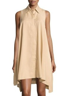Neiman Marcus Sleeveless Trapeze Shirt Dress