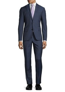 Neiman Marcus Slim-Fit Micro Wool Two-Piece Suit