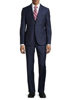 Neiman Marcus Slim-Fit Solid Two-Piece Suit