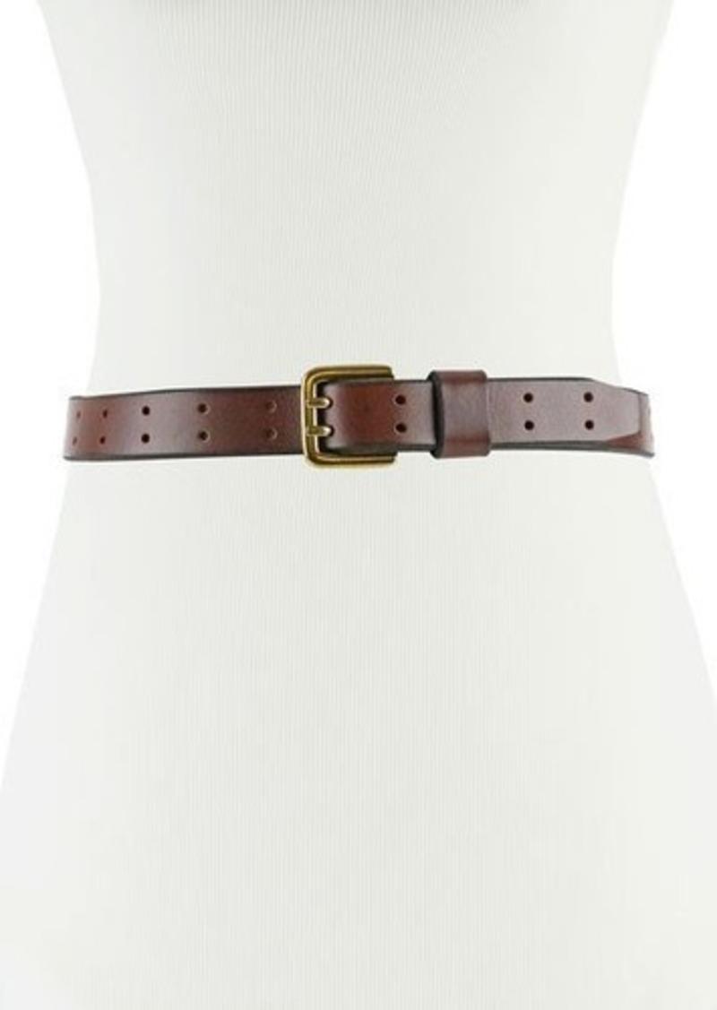Neiman Marcus Slim Perforated Leather Belt