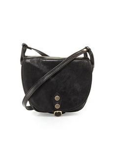 Neiman Marcus Small Buckle Leather Saddle Bag