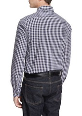 Neiman Marcus Small Check Long-Sleeve Sport Shirt