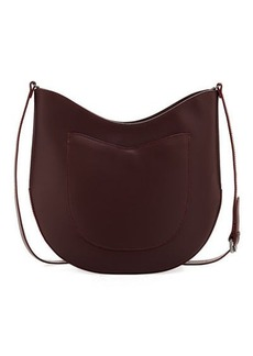 Neiman Marcus Smooth Leather Saddle Bag