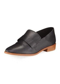 Neiman Marcus Smooth Leather Slip-On Loafer