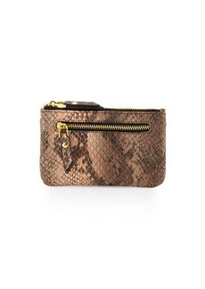 Neiman Marcus Snake-Embossed Faux-Leather Card Case