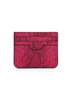 Neiman Marcus Snake-Embossed Small Card Case