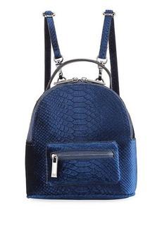 Neiman Marcus Snake Velvet Backpack