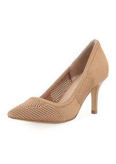 Neiman Marcus Sochi Stretch-Knit Pump