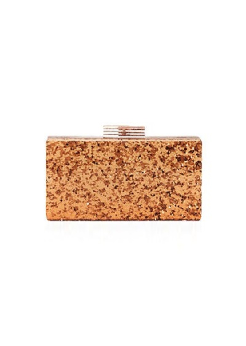 Neiman Marcus Solid Glitter Resin Clutch Bag