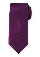 Neiman Marcus Solid Silk Satin Tie