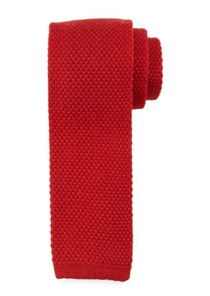 Neiman Marcus Solid Wool Tie