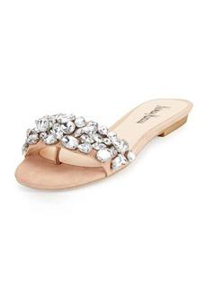 Neiman Marcus Star Crystal Suede Sandal