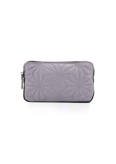 Neiman Marcus Star-Quilted Mini Pouch