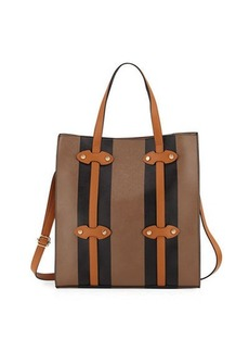 Neiman Marcus Steamer Faux-Leather Tote Bag