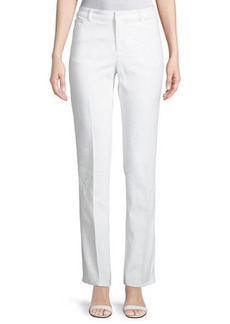 Neiman Marcus Straight-Leg Denim Pants