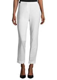 Neiman Marcus Straight-Leg Elasticized Pants