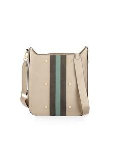 Neiman Marcus Striped Midi Messenger Bag