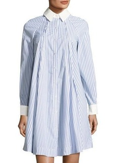 Neiman Marcus Striped Swing Shirtdress