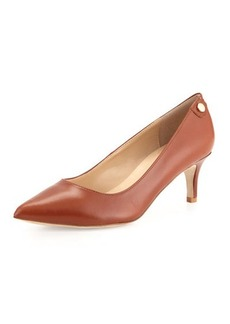 Neiman Marcus Stroll Pointed-Toe Leather Pump