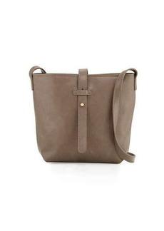 Neiman Marcus Structured Crossbody Bucket Bag